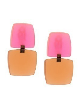 Monies two tone earrings - Pink