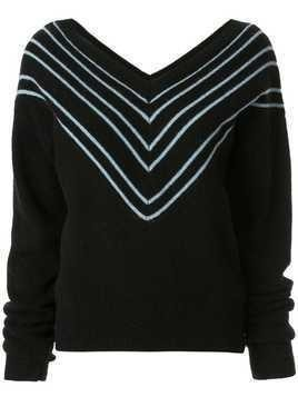 Georgia Alice Noel chevron jumper - Black