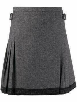 Christian Dior pre-owned pleated mini skirt - Grey