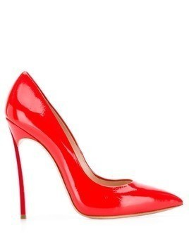Casadei pointed toe stiletto pumps - Red