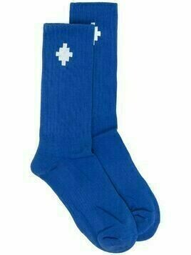 Marcelo Burlon County of Milan jacquard Cross logo socks - Blue