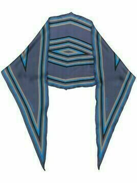 Acne Studios striped silk scarf - Blue