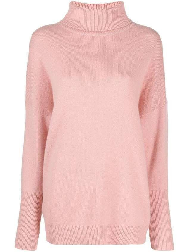 Chinti and Parker oversized cashmere jumper - PINK