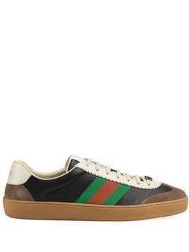 9cc85feaaf52f Gucci Leather and suede Web sneakers - Black