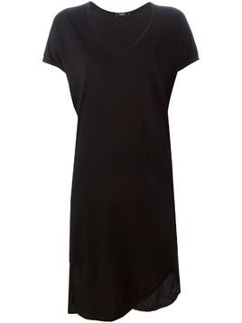 Bassike v-neck T-shirt dress - Black