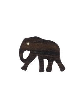 Marc Alary Elephant charm pendant - Brown