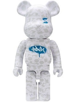 Medicom Toy paint-splatter bear collectible - White