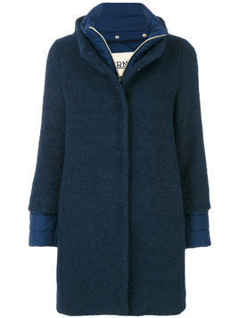 Herno single breasted coat - Blue