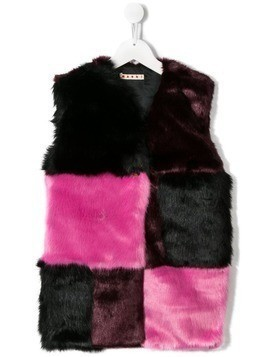 Marni Kids faux-fur gilet - Black