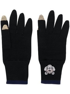 Kenzo knit gloves - Black