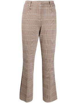 Cambio Felicity houndstooth cropped trousers - NEUTRALS