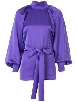 Dalood roll-neck loose blouse - PURPLE