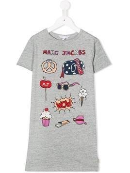 The Marc Jacobs Kids cartoon print T-shirt dress - Grey