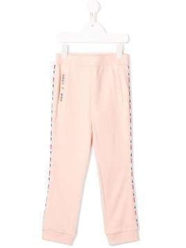 The Marc Jacobs Kids contrast piped track pants - PINK
