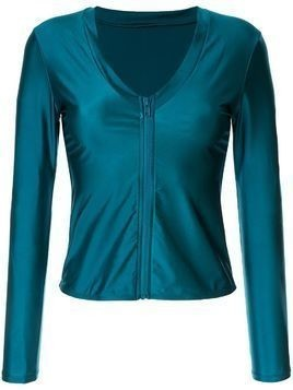 Duskii Océane Long Sleeve Plunge Rash Top - Blue