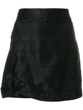 Giorgio Armani Pre-Owned side tie mini skirt - Black