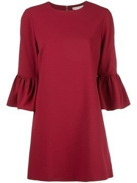 Alice+Olivia Coley ruffled-cuff dress - Red