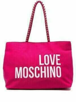 Love Moschino logo-embroidered tote bag - PINK