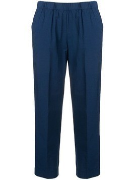 Kiltie cropped tailored trousers - Blue