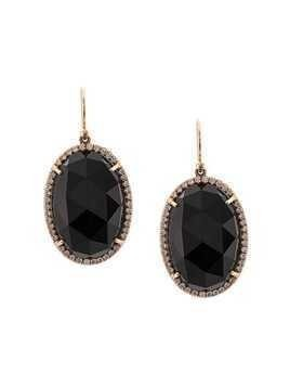 Irene Neuwirth 18kt rose gold onyx drop earrings - Black