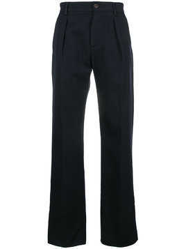 Fortela straight-leg pleated trousers - Blue