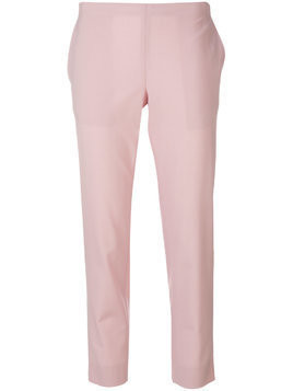 6397 plain cropped trousers - Pink