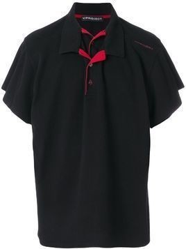 #Mumofsix double collar polo shirt - Black