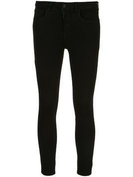 L'Agence cropped skinny jeans - Black