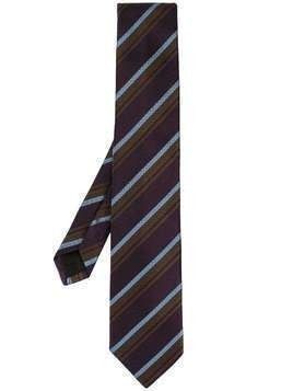 D'urban striped silk tie - PURPLE