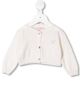 Miss Blumarine knitted cardigan - White