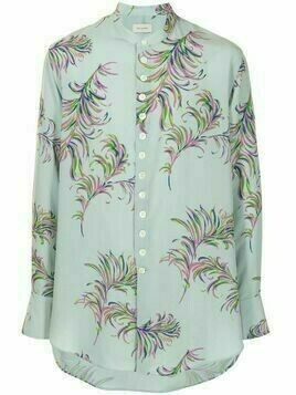 Bed J.W. Ford floral button-down shirt - Blue
