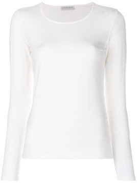 Le Tricot Perugia long sleeved sweatshirt - White