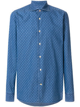 Borriello printed denim shirt - Blue