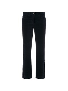 Luisa Cerano cropped slim-fit trousers - Blue