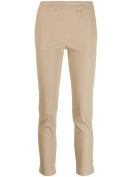 Arma ruched waistband skinny trousers - Neutrals