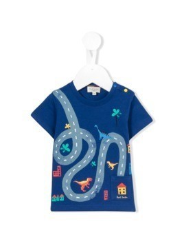 Paul Smith Junior printed T-shirt - Blue