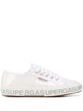 Superga patent low-top sneakers - White