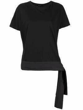 Roberto Collina tie-hem T-shirt - Black