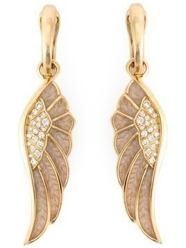 Garrard diamond detail wing earrings - Metallic