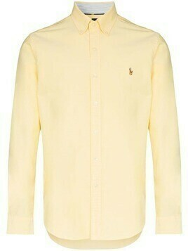 Polo Ralph Lauren logo-embroidered button-down shirt - Yellow