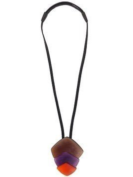 Monies chunky pendant necklace - Purple