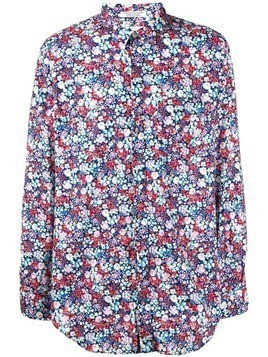 Engineered Garments floral print long-sleeve shirt - Blue