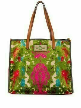 Etro jacquard embroidered tote - Green