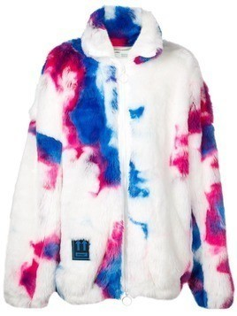 Off-White tie dye effect parka