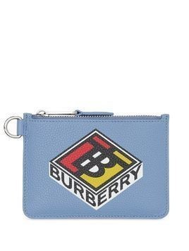 Burberry graphic logo coin wallet - Blue