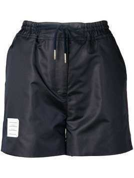 Thom Browne Navy Ripstop Track Shorts - Blue