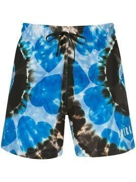 Amiri all-over print swim shorts - Blue