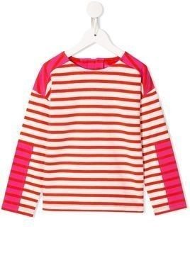 Stella McCartney Kids striped T-shirt - PINK