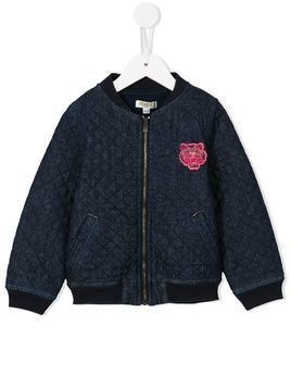 Kenzo Kids quilted denim bomber - Blue