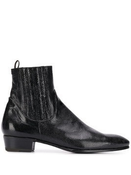 Lidfort leather boots - Black